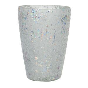 Skleněný svícen na čajovou svíčku Enzo - Ø 13*9 cm