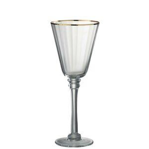 Sklenička na červené víno Rim Gold - Ø 9,5*24 cm