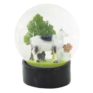 Sněžítko s kravičkou a stromem - Ø 10*13 cm Clayre & Eef