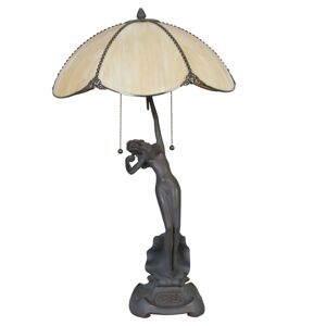 Stolní lampa Tiffany Woman -  Ø 41*70 cm Clayre & Eef