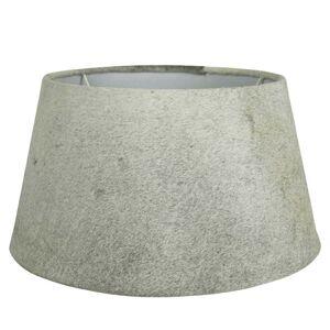 Stínidlo lampy z kravské kůže šedá - Ø 40*22,5cm