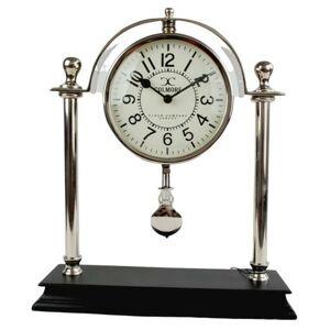 Stolní kovové hodiny s kyvadlem - 32*38cm Colmore by Diga
