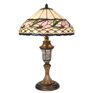 Stolní lampa Tiffany Lovely Tulip - Ø 40*60 cm Clayre & Eef