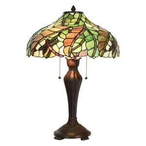 Stolní lampa Tiffany Caila - Ø 40*60 cm E27/2*60W Clayre & Eef