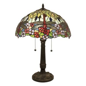 Stolní lampa Tiffany Dragons  - Ø 42*60 cm Clayre & Eef