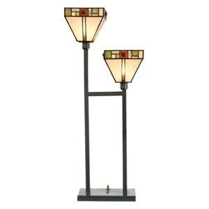 Stolní lampa Tiffany Edlyn - 28*70 cm E14/2*40W Clayre & Eef