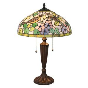 Stolní lampa Tiffany Floraison - Ø 41*60 cm / E27 / Max. 2x60 Watt Clayre & Eef