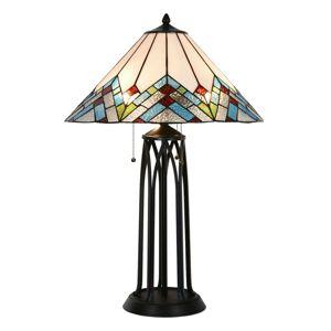 Stolní lampa Tiffany Géometrie – Ø 51*75 cm