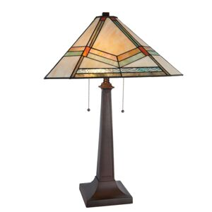 Stolní lampa Tiffany Pyramid - 50*50*75 cm Clayre & Eef