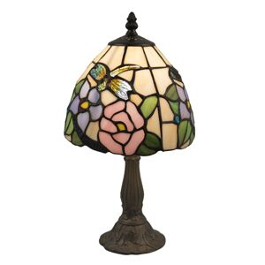 Stolní lampa Tiffany Rose butterfly - Ø 20*36 cm Clayre & Eef