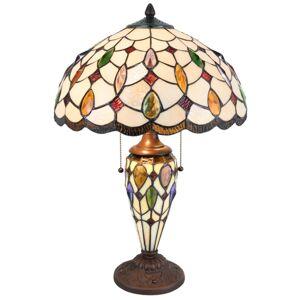 Stolní lampa Tiffany Sun stones - 40*60cm 2x E27/60W Clayre & Eef