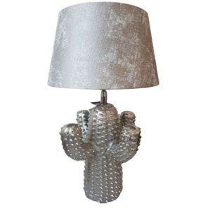 Stříbrná kovová stolní lampa Cactus  -Ø 25*43 cm/ E27 Colmore by Diga