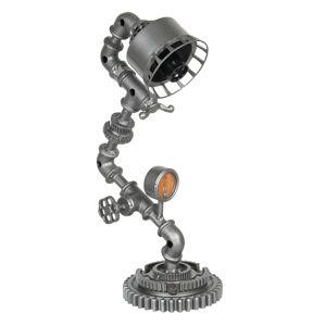 Stříbrná kovová stolní lampa Design 2 - 25*15*48 cm Clayre & Eef