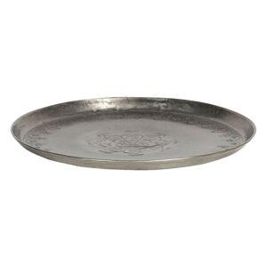 Stříbrný antik talíř s vyrytými ornamenty - Ø 21*2 cm