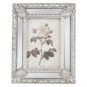 Stříbrný fotorámeček s ornamenty - 18*3*23 cm / 10*15 cm Clayre & Eef