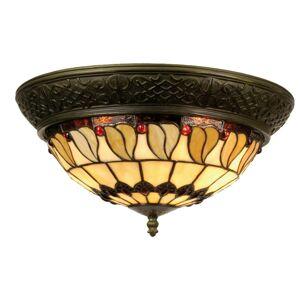 Stropní světlo Tiffany Rayen - Ø 38*19 cm 2x E14 / Max 40W Clayre & Eef