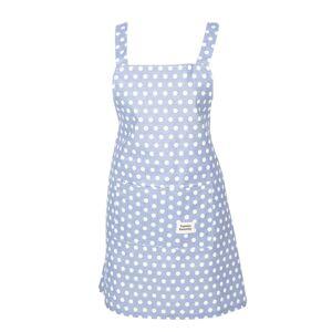 Světle modrá bavlněná kuchyňská zástěra s puntíky - 70*65 cm Clayre & Eef
