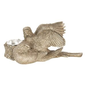 Svícen s ptáčky - 21*22*8 cm Clayre & Eef