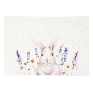 Textilní prostírání Lavander Fields s králíčkem - 48*33 cm - 6ks Clayre & Eef