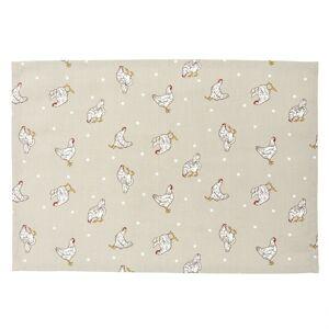 Textilní prostírání Lucky Chicken - 48*33 cm - sada 6ks Clayre & Eef