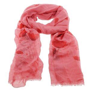Tmavě růžový šátek s tulipány - 70*180 cm Juleeze