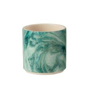 Tyrkysový mramorový obal na květináč Azure S - Ø10*11 cm