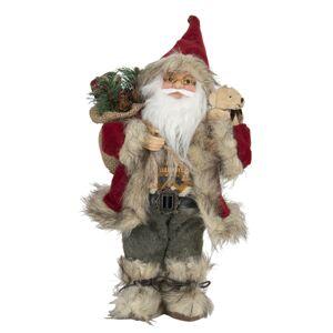 Vánoční dekorace Santy s kožichem - 15*11*30 cm