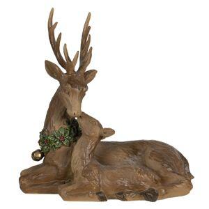 Vánoční dekorace srnec se srnečkou - 23*12*25 cm