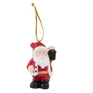 Vánoční ozdoba Santa s lucernou -  5*4*7 cm