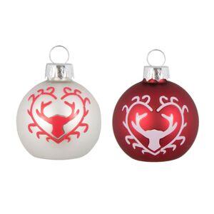 Vánoční ozdoby s Jelenem (6ks) - Ø 5*4 cm Clayre & Eef