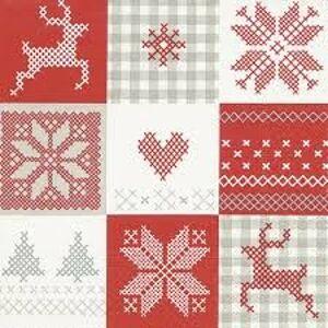Vánoční papírové ubrousky  Winter patch - 33*33 cm (20) PPD