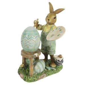 Velikonoční dekorace králíka malíře - 11*7*15 cm