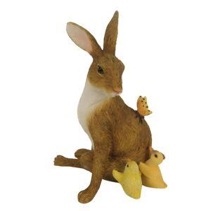 Velikonoční dekorace králíka s kuřátky - 10*7*13 cm