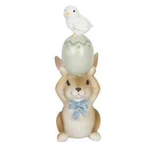 Velikonoční dekorace králíka s vajíčkem - 8*6*17 cm