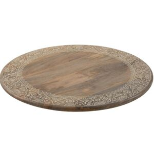 Veliký dřevěný točící tác/ podnos Amoro  - Ø 56*6 cm J-Line