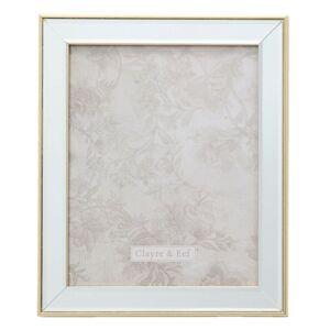 Velký fotorámeček se skleněným okrajem a zlatou linkou Claiborne- 25*2*30 / 20*25 cm Clayre & Eef