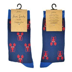Veselé modré ponožky s humry - 35-38