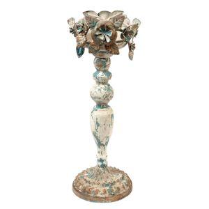 Vintage kovový svícen s patinou - Ø 13*36 cm Clayre & Eef