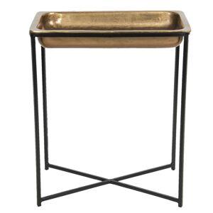 Vintage odkládací stolek ve zlatém provedení Marrok - 53*54*62 cm