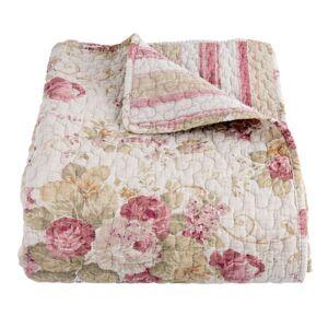 Vintage přehoz na jednolůžkové postele Quilt 182 nature- 150*150cm Clayre & Eef