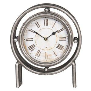 Vintage stolní hodiny s kovovým rámem a římskými číslicemi - 28*12*36 cm Clayre & Eef