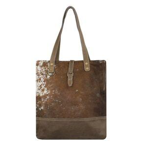 Hnědá kožená kabelka přes rameno Vintage - 41*38cm