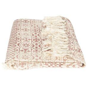 Vzorovaný bavlněný pléd s třásněmi - 125*150 cm Clayre & Eef