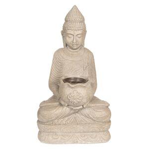 Zahradní dekorační socha Buddha s květináčem - 28*20*50 cm