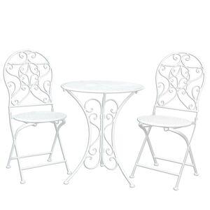 Zahradní skládací souprava - stůl + 2 židle - Ø 60*70 / 2x Ø 40*40*92 cm Clayre & Eef