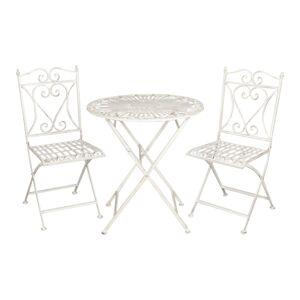 Zahradní skládací souprava - stůl + 2 židle -Ø 70*75 Clayre & Eef