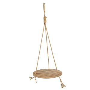 Závěsná dřevěná police na laně - Ø 40*100 cm Clayre & Eef