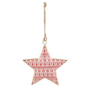 Závěsná hvězda - 10*1*11 cm Clayre & Eef