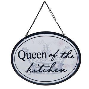 Závěsná kovová cedulka Queen of the kitchen - 17*13 cm Clayre & Eef