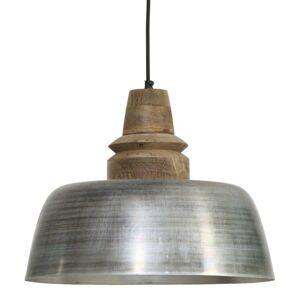 Závěsné světlo MARGO hnědá/stříbrná - Ø40*33 cm Light & Living